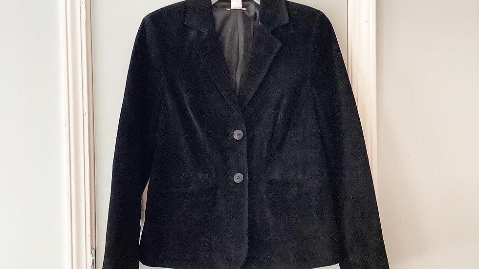 Liz & Co. Black Suede Blazer Size M