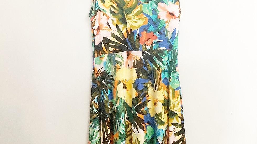 Cable & Gauge Floral Drop Hem Dress Size S