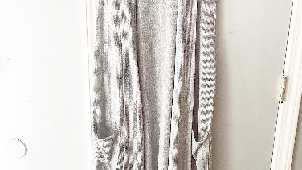 Maurices Gray Sleeveless Duster Size L/XL