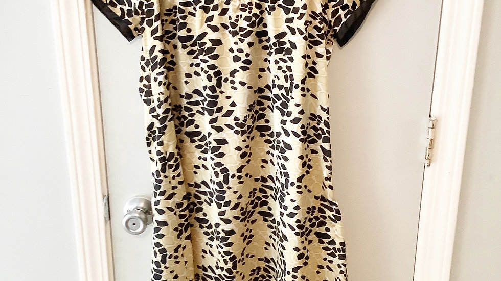 Vertigo Black Gold Print Dress Size XS