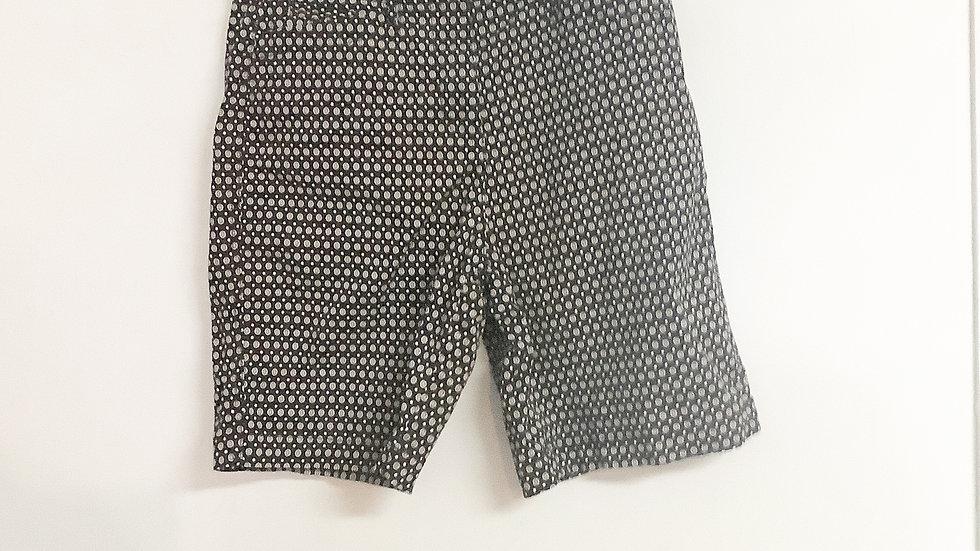 Kim Rogers Black Print Shorts Size 8