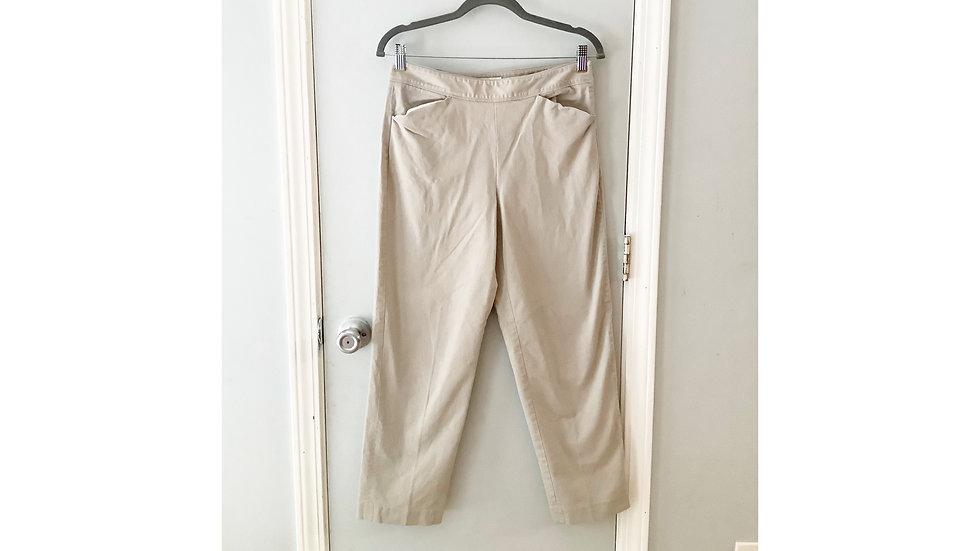 Talbot's Khaki Pull On Stretch Pant Size 6