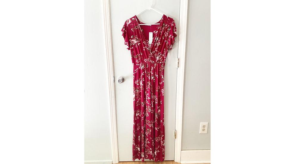 NEW Loveappella Torri Knit Maxi Dress Size LP