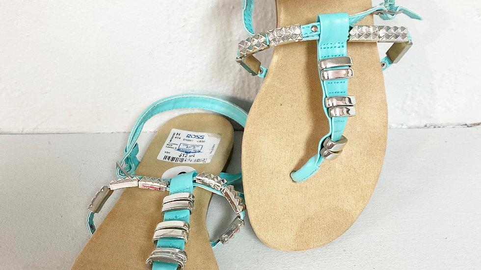 Sbicca Torrie Teal Sandal Size 6