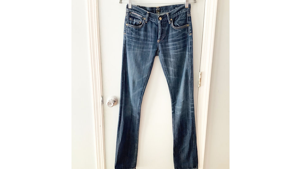 Citizens of Humanity COH Mixed Cigarette Selvage Jeans Size 24