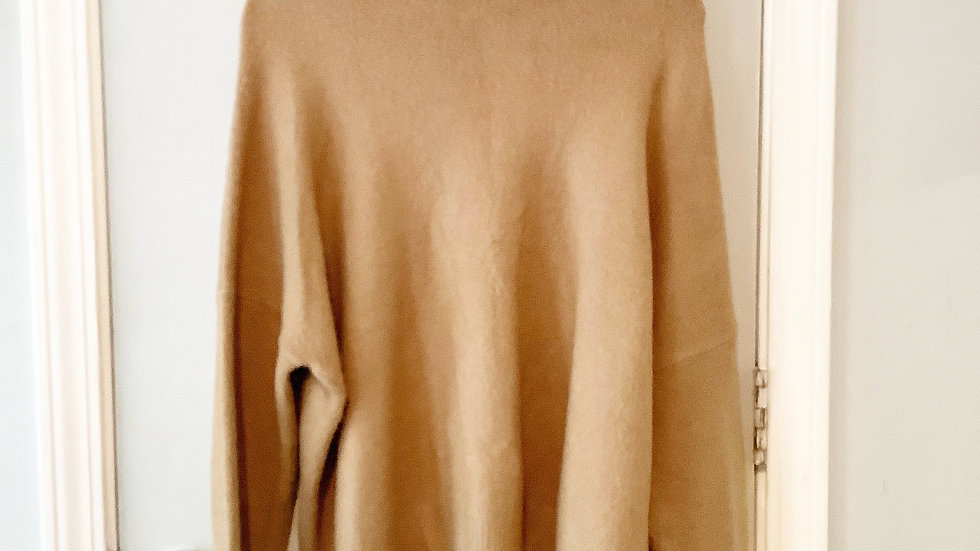Altar'd State Gold Turtleneck with back Zipper Size S