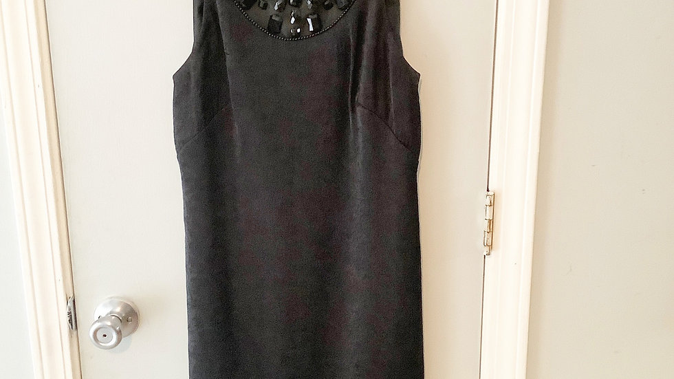 Adrianna Papell LBD Shimmer Beaded Dress Size 4