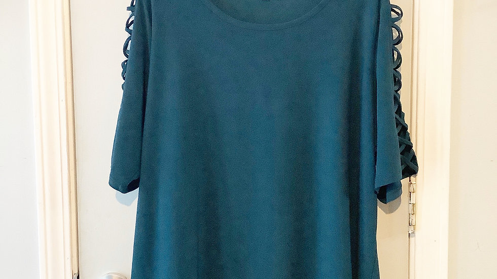 89th & Madison Teal Blouse Size 2X