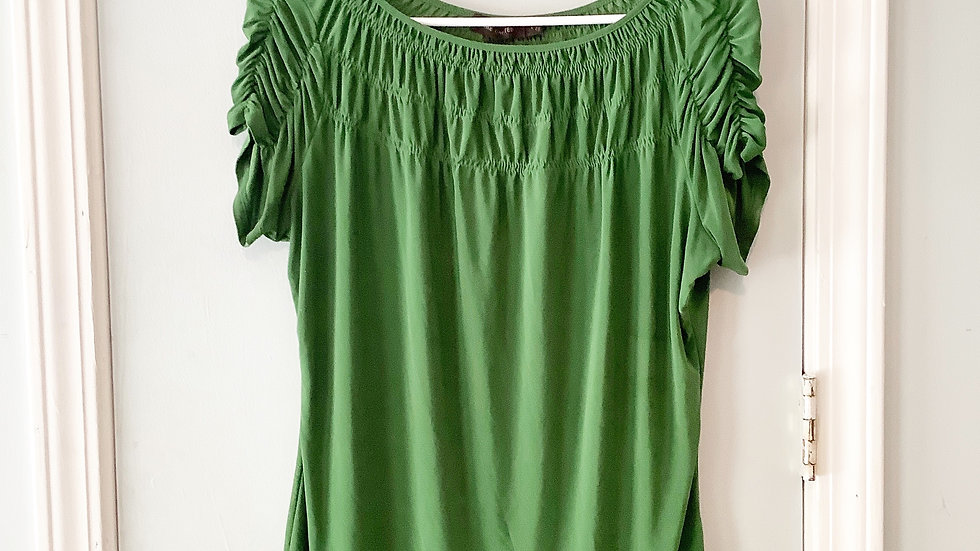 The Limited Green Ruched Top Size L