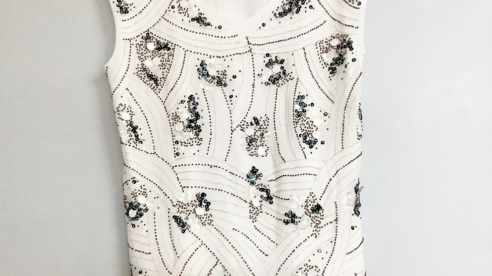Cold Water Creek Embellished Top Size L