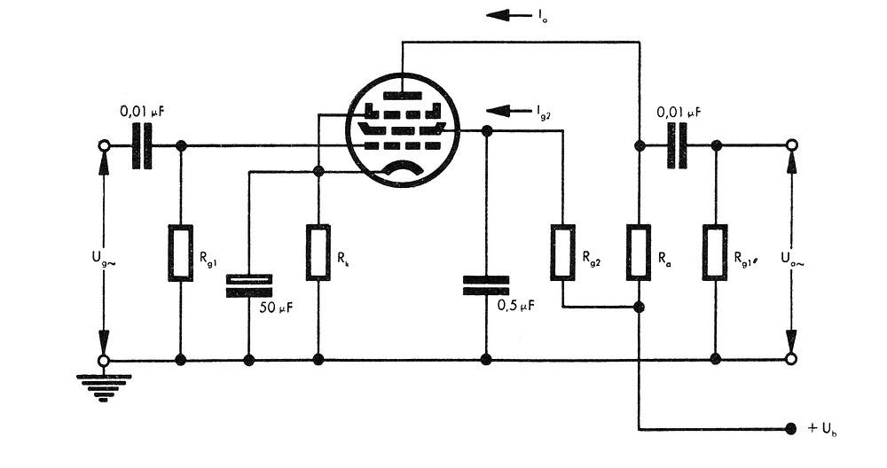 Basic pentode circuit