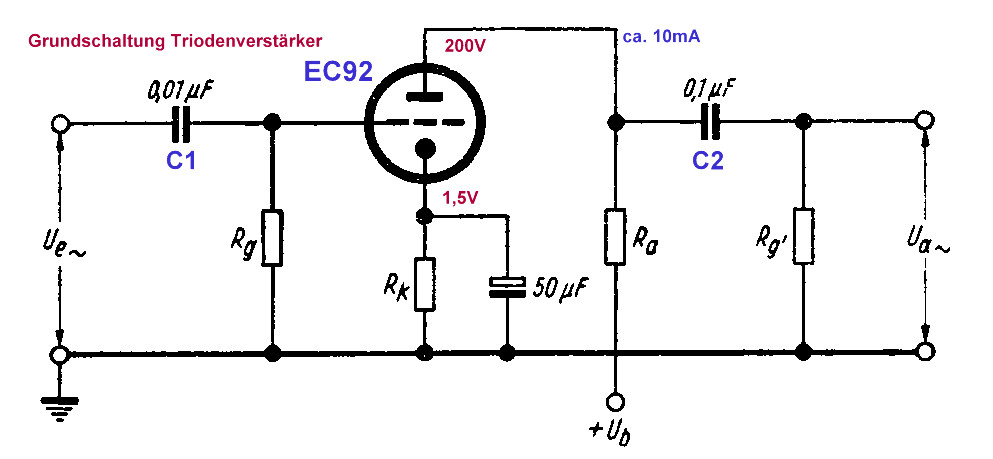 EC92 as LF amplifier