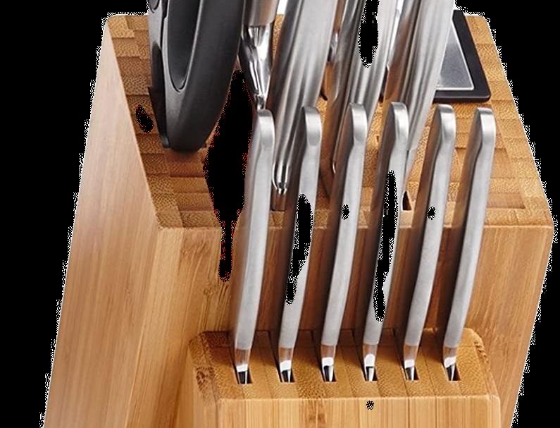 Set de Cuchillos 14 Piezas base de Bambú   WEBER