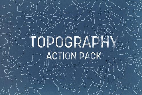 Topography / Contour Photoshop Action