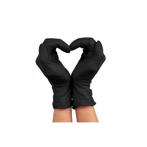 Gants nitriles black (M)