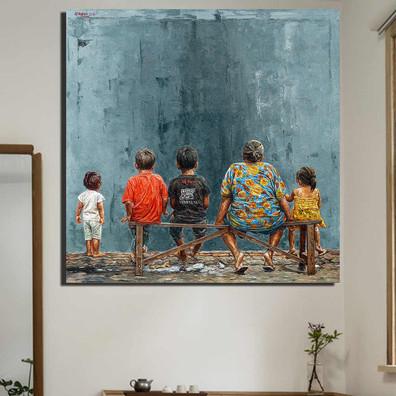 QKART-Frameless-Wall-Art-Absurd-Leave-pe