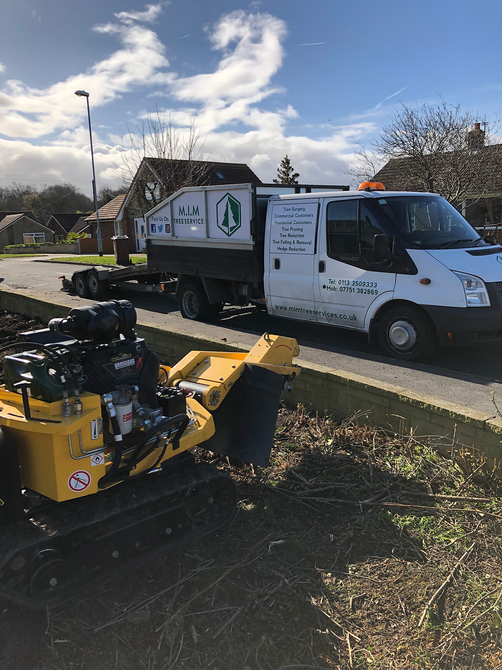 M.I.M Tree Services Stump grinding in Leeds
