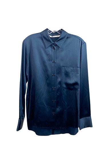 Blue Zara Button-Down Top