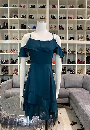 Green Off-The-Shoulder Dress