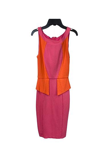 Bebe Pink & Orange Mini Dress