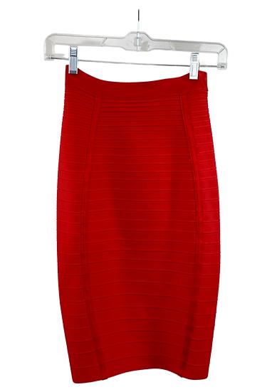 Red Midi Bandage Skirt