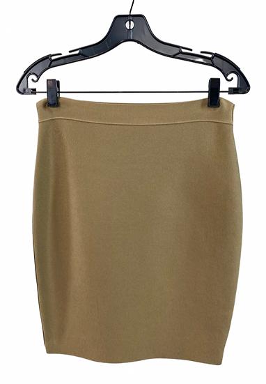 Tan Bandage Mini Skirt