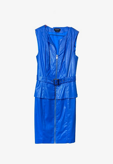 Bebe Blue Zipper Dress