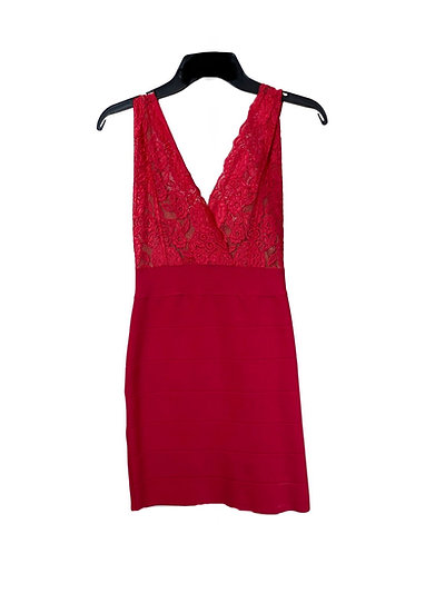 Bebe Red Lace Dress