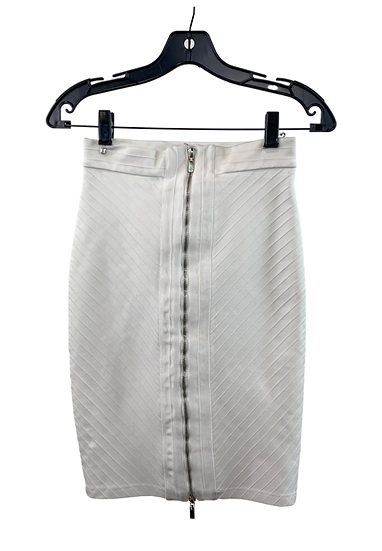 White Bandage Skirt With Zipper