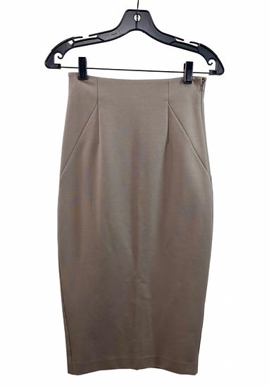 Biege Midi Skirt