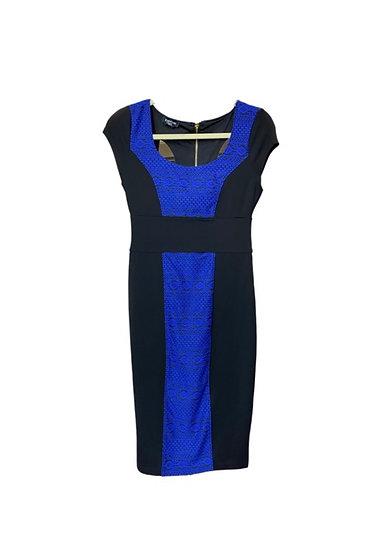 Bebe Blue & Black Dress