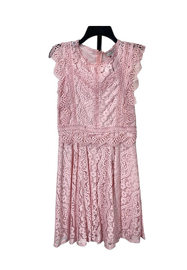 Stellah Pink Lace Dress