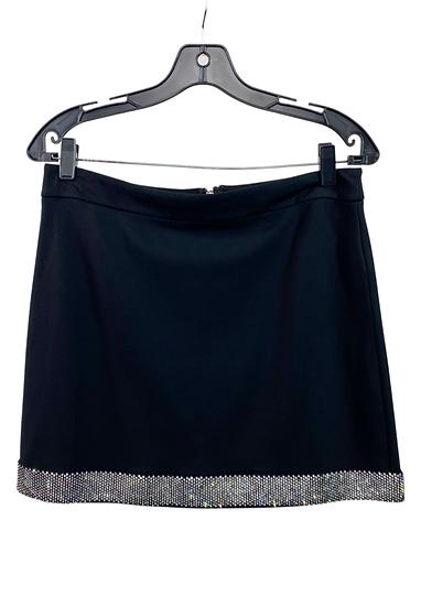 Black Rhinestone Mini Skirt