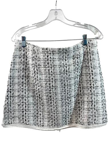 B&W Tweed Mini Skirt