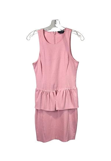 Bebe Pink Peplum Dress