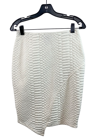 White Textured Skirt