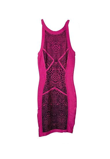 Bebe Hot Pink Mini Dress