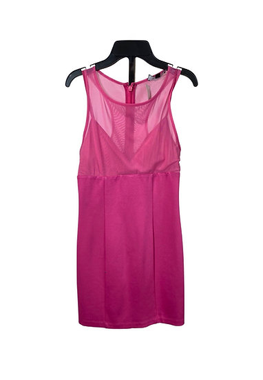 Bebe Hot Pink Mesh Mini Dress