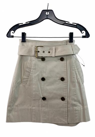 Beige Buttoned Skirt