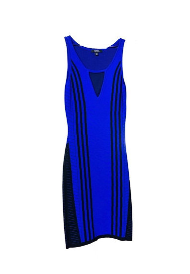 Blue & Black Dress