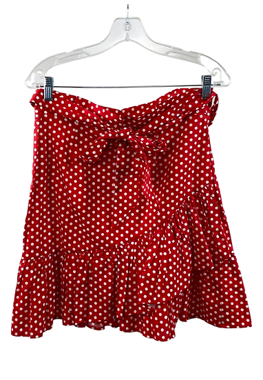 Red & White Polka Dot Mini Skirt