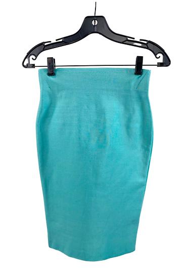Aqua Pencil Skirt