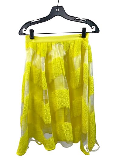 Yellow Midi Pleated Skirt