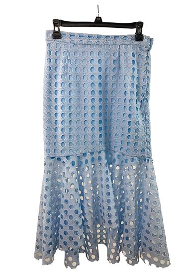 Blue Eyelet Mermaid Skirt