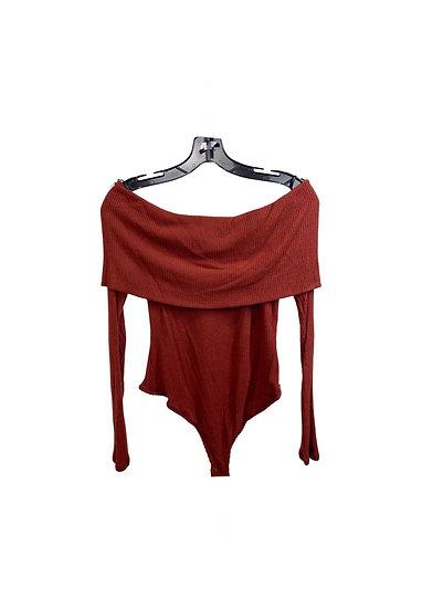 Off-the-Shoulder Sweater Bodysuit