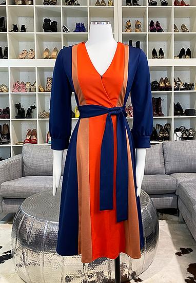 Neiman Marcus Colorblock Dress