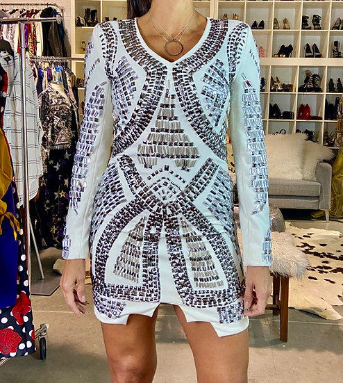 White Studs Dress