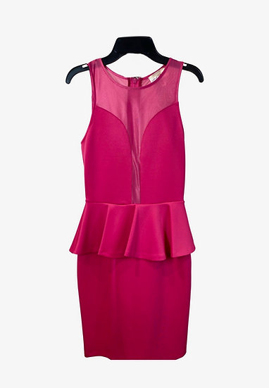 Hot Pink Peplum Mini Dress