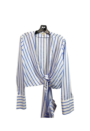 Blue & White Striped Top