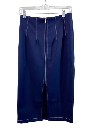 Blue Skirt With Zipper